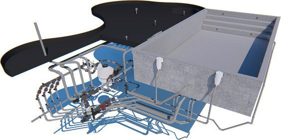 Etude 3D de piscine naturelle